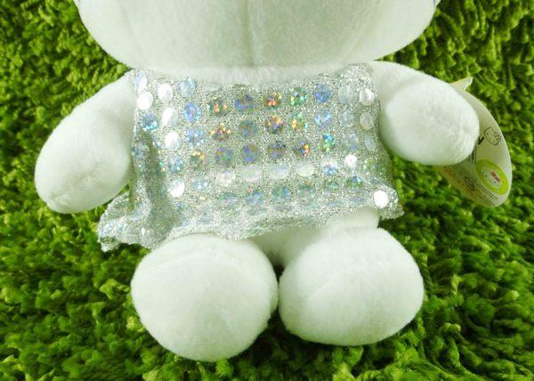 【震撼精品百貨】Hello Kitty 凱蒂貓~KITTY絨毛娃娃-亮片銀天使