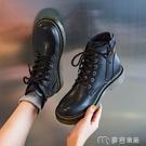 馬丁靴英倫風馬丁靴女秋季薄款新款爆款韓版潮春秋單靴短靴子 快速出貨