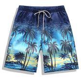 新春狂歡 男士沙灘褲夏季海邊休閒短褲度假五分褲拼接加肥加大碼泳褲大褲衩