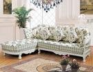 【大熊傢俱】A43玫瑰系列歐式 L型 休閒沙發皮沙發 多件沙發組  美式皮沙發 絨布沙發