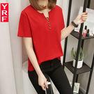 加肥加大碼200斤韓版寬鬆顯瘦短袖T恤女半袖上衣胖mmt恤夏裝體恤  良品鋪子
