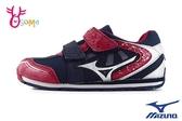 Mizuno童鞋 美津濃運動鞋 魔鬼氈 足弓墊 男童運動鞋 機能慢跑鞋 H9247#藍紅◆OSOME奧森鞋業
