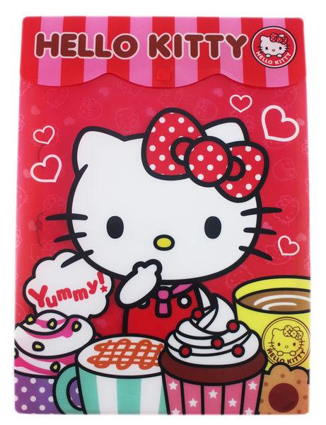 【卡漫城】Hello Kitty 檔案夾 ㊣版 港版 文件夾 信封型 資料夾 點心 下午茶 咖啡 甜甜圈