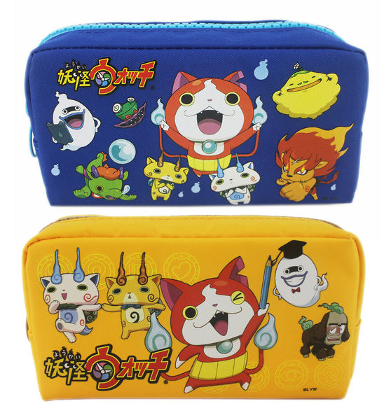 【卡漫城】 妖怪手錶 大容量 鉛筆盒  剩黃色款 ㊣版 化妝包 台灣製 鉛筆袋 萬用包 吉胖喵 吉胖貓