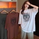 大碼T恤 短袖T恤女裝夏季2021年新款潮韓版體恤薄款寬鬆大碼中長款上衣服 小天使 618