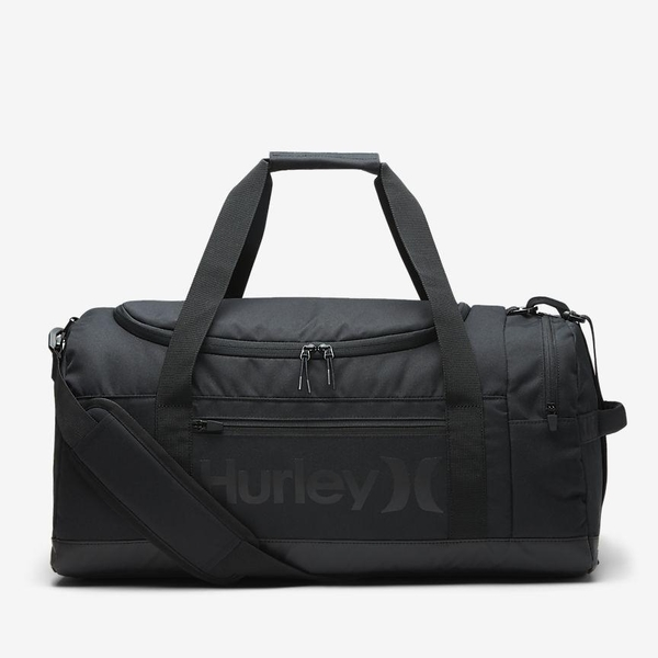 Hurley RENEGADE ll SOLID DUFFLE 圓筒旅行包-黑(男)
