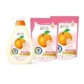 【橘子工坊】家用清潔類奶瓶蔬果清潔劑500mlx1加補充包430mlx2