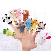 手偶玩具動物手指偶手偶玩具嚶兒布偶生肖手指玩具拇指娃娃動物手套娃嬰兒   color shop