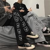 褲子女2020年新款秋季長褲寬鬆顯瘦直筒寬管褲高腰休閒黑色運動褲 「雙11狂歡購」