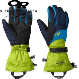 【Outdoor Research 美國 男防水透氣保暖手套 藍/綠】71260/防水手套/保暖手套