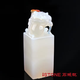 冰彩玉髓玉璽-極富貔貅-15  石頭記