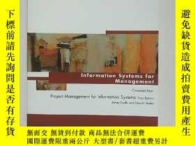 二手書博民逛書店lnformation罕見Systems for ManagementY254853 Pearson Pear