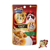 銀湯匙 貓湯餐包 13歲-鮪+鰹+吻+柴40g*12包組 (C002H45-1)
