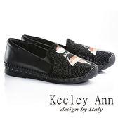 ★零碼出清★Keeley Ann 跳舞女孩~全真皮水鑽休閒鞋(黑色)-Ann系列