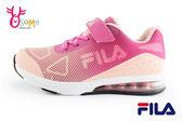 FILA女童運動鞋 半氣墊 網布透氣 慢跑鞋N7620#桃紅◆OSOME奧森童鞋