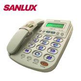 三洋夜光大字鍵來電顯示有線電話TEL-982(銀)