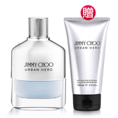 JIMMY CHOO URBAN HERO男性淡香精100ml( 贈)同款男性沐浴膠150ml Vivo薇朵