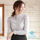 ❖ Autumn ❖ 鏤空設計羅紋針織上衣 - earth music&ecology
