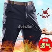 冬季駱駝洲戶外沖鋒褲男雙層加絨加厚保暖防風防水防寒登山運動褲 快速出貨