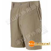 Wildland 荒野 0A11383-62黃卡其 女彈性透氣抗UV短褲