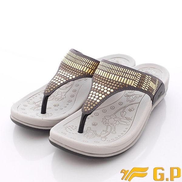 GP涼鞋-閃耀晶鑽夾腳拖鞋款-G5892W-71灰(女段)(23cm-24.5cm)