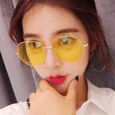 墨鏡 女韓版潮街拍復古原宿風太陽鏡女2018新款女眼鏡ulzzang WE514『優童屋』