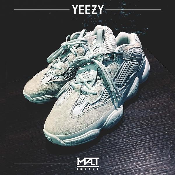 "IMPACT Adidas Yeezy 500 ""Salt"" 海鹽 鹽巴 灰 淺藍 復古 老爹鞋 EE7287"