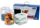 Glasslock 八件式玻璃保鮮盒罐組‧格拉氏洛克-【Fruit Shop】