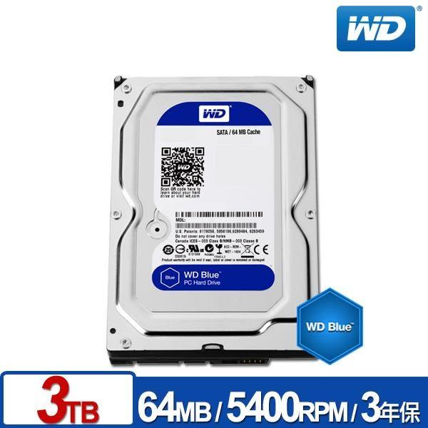 WD30EZRZ 藍標 3TB 3.5吋SATA硬碟/3y