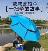 遮陽傘 釣魚傘大釣傘2.4米雨傘萬向加厚防曬防暴雨遮陽漁傘垂釣傘YYJ(快速出貨)