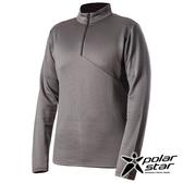 PolarStar 中性 高領拉鍊保暖衣『炭灰』P19215 上衣 男版 休閒 戶外 登山 吸濕排汗 透氣