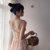 春夏新款韓版防走光性感露背裹胸抹胸女一體式文胸小吊帶背心
