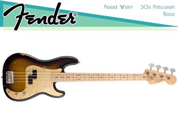 【小麥老師 樂器館】Fender Road Worn 50's Precision Bass
