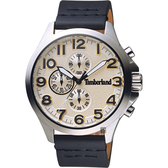 Timberland 天柏嵐 Brenton 三眼計時手錶-黃x黑色錶帶/46mm TBL.15026JS/07