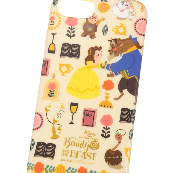 日本限定 DISNEY STORE 迪士尼公主系列 美女與野獸 貝兒 iPone7/ iPone 6s 手機保護殼