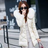 鋪棉外套 冬季外套棉衣中長款大毛領加厚修身羽絨棉服棉襖 巴黎春天