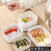 日本保鮮盒塑料水果便當盒食品冰箱專用收納盒帶蓋微波爐碗熱飯盒