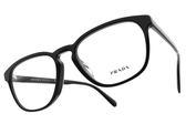 PRADA 光學眼鏡 VPR09VF 1AB-1O1 (黑) 經典方框款 #金橘眼鏡