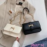 鍊條包上新包包女2020網紅新款潮韓版百搭側背包斜背ins時尚鍊條小方包 JUST M