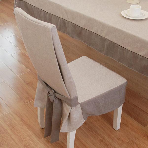 椅套 定制定做簡約椅子套連體椅套餐椅套凳子套灰色蝴蝶結椅墊谷古GG【618好康又一發】