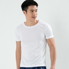 男款排汗T  CoolMax 吸濕快乾 機能涼感 舒適運動 白色