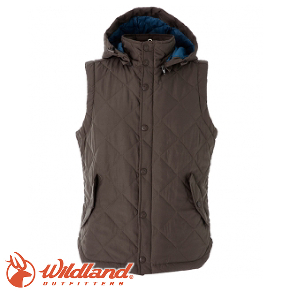 【Wildland 荒野 RE中性High soft保暖背心《深卡其》】0A52791/羽絨背心/水鳥羽絨/舒適透氣