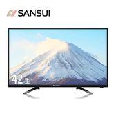 【SANSUI 山水】42型LED多媒體液晶顯示器+數位視訊盒(SLED-4266)◆三年保固/全省專業維修據點