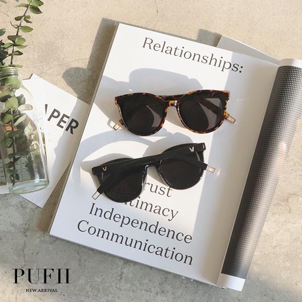 限量現貨◆PUFII-眼鏡 側V後鏤空墨鏡太陽眼鏡-0502 現+預 春【CP16615】