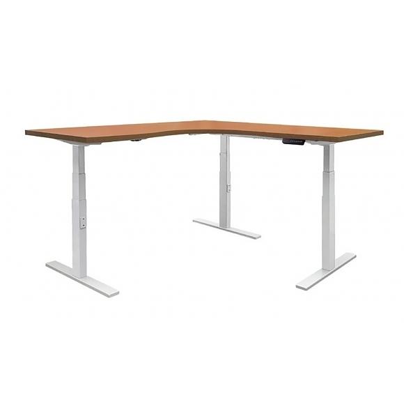 [ 家事達 ] OA-560-4愛德恩L型 電動升降桌(160*160cm) 特價-已組裝限送中部 須訂製,交貨期約5~6天