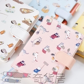可愛皮面筆記本文具手賬本學生小清新記事本子日式手帳本