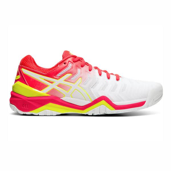 ASICS GEL-Resolution 7 [E751Y-116] 女鞋 網球 運動 耐磨 舒適 緩衝 亞瑟士 白粉