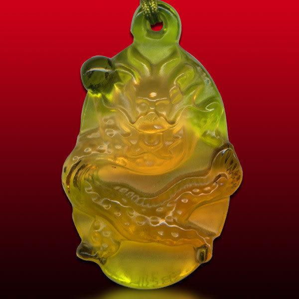 鹿港窯~居家開運水晶琉璃項鍊~祥龍◆ 附精美包裝◆免運費送到家