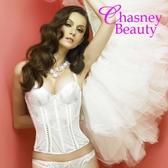 Chasney Beauty-NG商品75B羽毛蕾絲托高馬甲(白)
