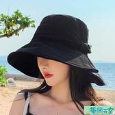 遮陽帽 帽子女夏遮陽帽防曬漁夫帽韓版百搭防紫外線大帽檐遮臉太陽帽潮